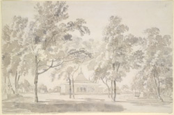 Aishbagh, pavilion and garden at Lucknow (U.P.). 5 October 1789